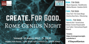 RomeGeniusNight - the Hub 10marzo2017